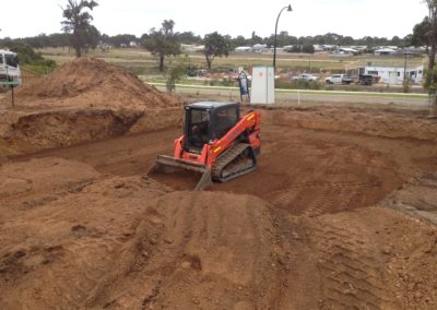 Cutting House Pad with Bobcat
